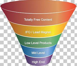 Digital Marketing Sales Process Funnel PNG