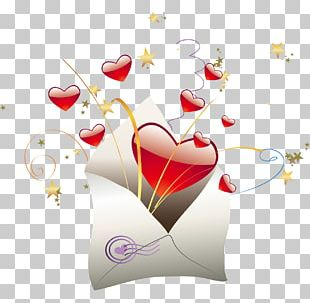 Valentines Day Letter Heart PNG