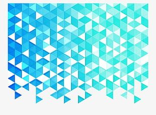 Blue Triangle Background PNG