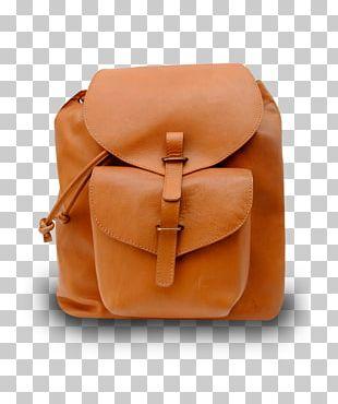 Leather Messenger Bags Caramel Color PNG
