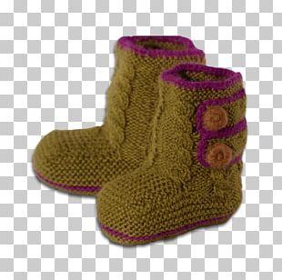 Snow Boot Slipper Shoe Magenta PNG