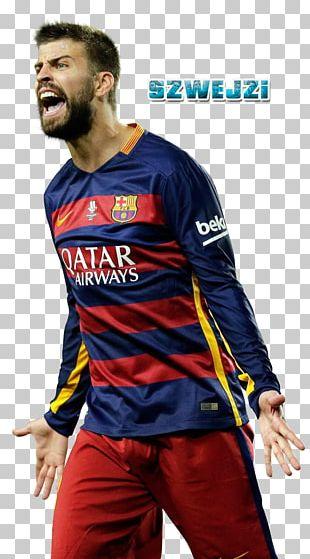 Gerard Piqué FC Barcelona Jersey Spain National Football Team 2017–18 La Liga PNG