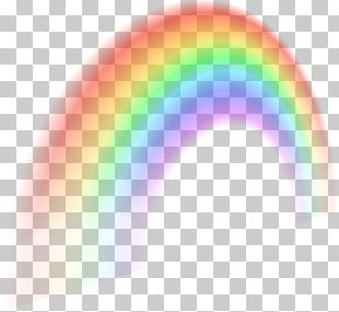 Rainbow Sky Pink Circle PNG