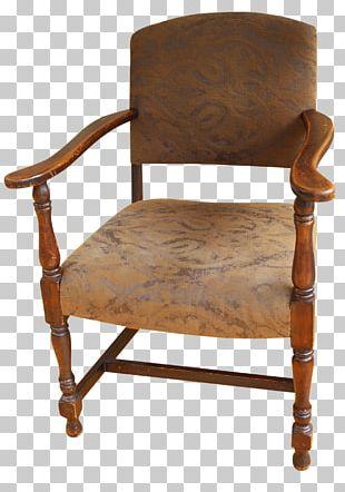 Furniture Chair Caquetoire Renaissance Wood PNG