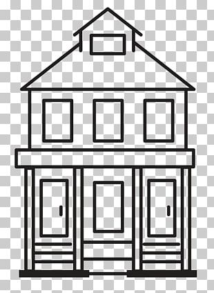 Line Art Shed White Font PNG