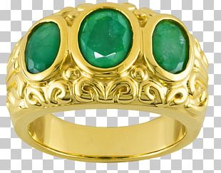 Emerald Ring Jewellery Gemstone Gold PNG