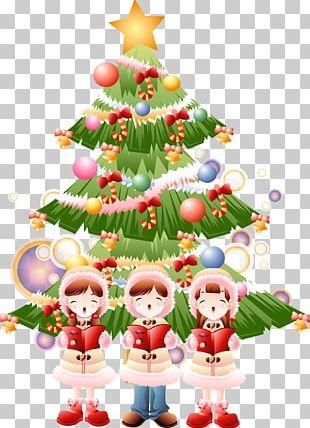Christmas Tree Cartoon Illustration PNG