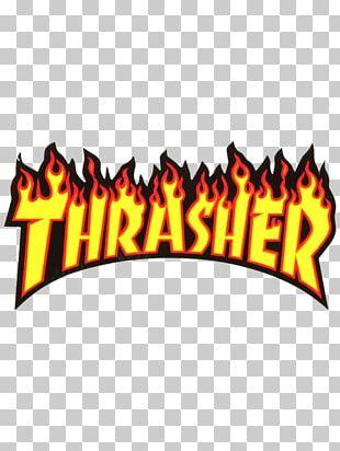Thrasher Skateboarding Magazine Supreme PNG