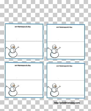 Christmas Card Paper Lebkuchen Place Cards PNG