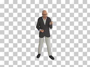 Modern Bald Man Wearing Glasses PNG
