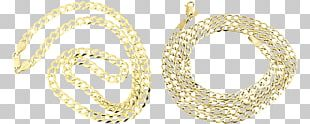 Earring Necklace Chain Colored Gold PNG