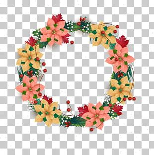 Wreath Christmas Flower PNG