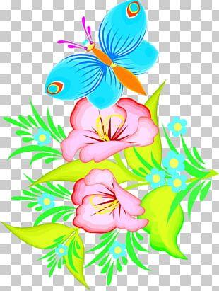 Butterfly Flower Open PNG