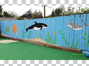 Fence Mural Painting Art PNG