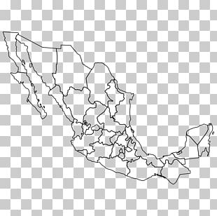 Mexico–United States Border Blank Map Administrative Divisions Of Mexico PNG