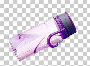 Purple Plastic Water Bottle PNG
