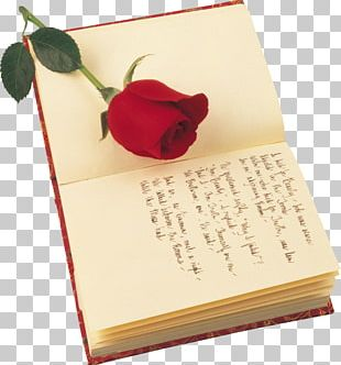 Poetry Valentines Day Rose Saint Georges Day Book PNG