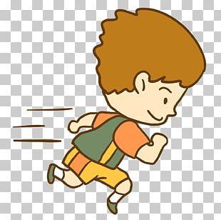 Running Cartoon Jogging Boy Runner PNG