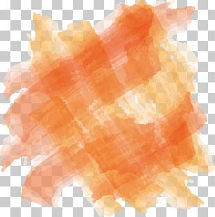 Orange Watercolor Painting Paintbrush PNG