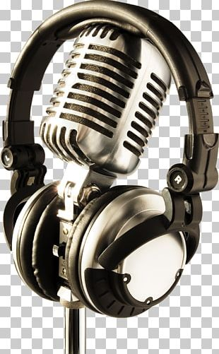 Microphone Headphones Stock Photography Recording Studio PNG
