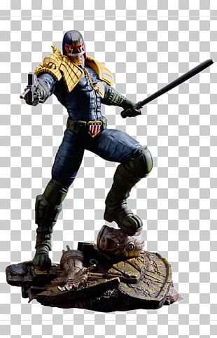 Judge Dredd The Cursed Earth Figurine 2000 AD Action & Toy Figures PNG