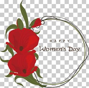 International Womens Day Woman Greeting Card March 8 PNG