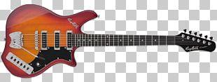 Hagström Electric Guitar Sunburst Solid Body PNG