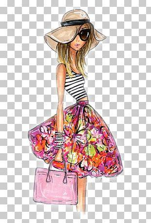 Fashion Illustration Drawing Floral Design PNG