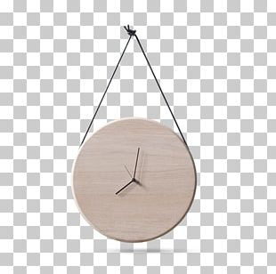 Table Clock Wood Oak Shelf PNG