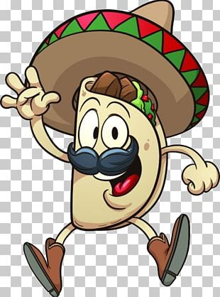 Taco Mexican Cuisine Cartoon PNG