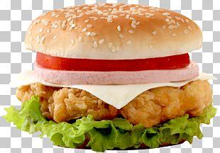 Hamburger Chicken Sandwich Cheeseburger Fast Food Junk Food PNG