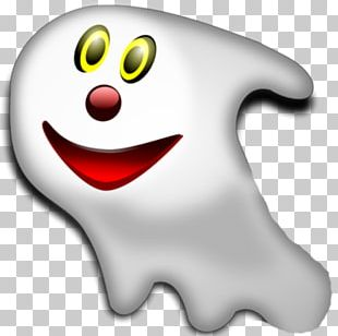 Ghost Halloween Paper Smiley PNG