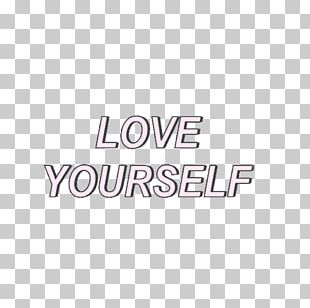 Text Love Yourself: Her BTS Tumblr Sticker PNG