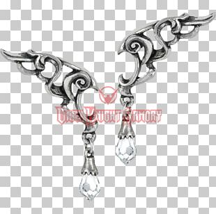 Alchemy Gothic Wings Of Eternity Earrings E367 Jewellery Alchemy Gothic E350 Empyrian Eye Tears From Heaven Earrings Alchemy Gothic Wings Of Eternity Necklace PNG