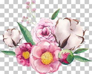 Flower Bouquet Floral Design Watercolor Painting Illustration PNG