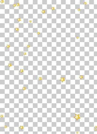 Yellow Floating Stars PNG