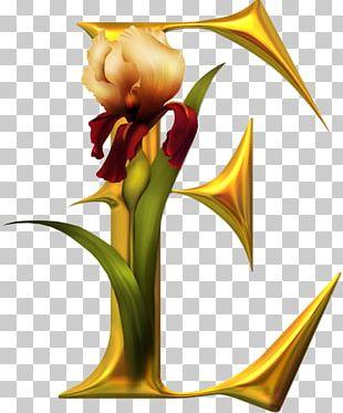 Letter Alphabet I Flower PNG