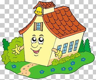 School Building Cartoon PNG