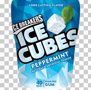 Chewing Gum Ice Breakers Ice Cube Mint Flavor PNG