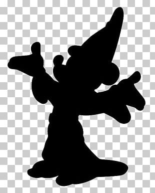 Mickey Mouse The Sorcerer's Apprentice Silhouette Sorcerer's Hat Magician PNG