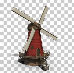 Windmill Building Theatrical Property Model PNG