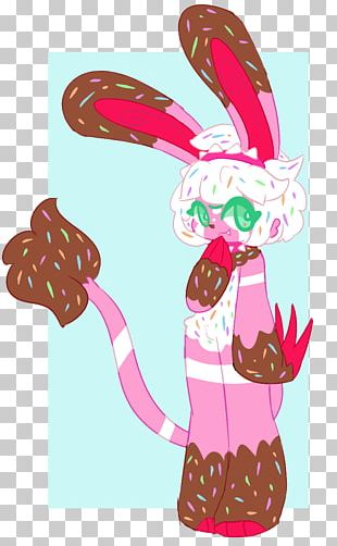 Easter Bunny Cartoon Pink M PNG