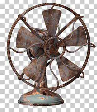 Fan Rusty Blue Front View PNG