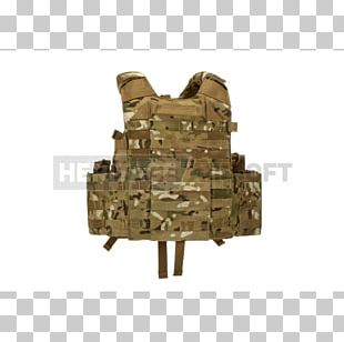 Military Camouflage Soldier Plate Carrier System MOLLE MultiCam PNG