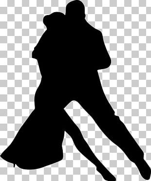 Silhouette Dance Couple PNG