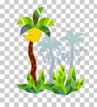 Banana Tree Cartoon PNG