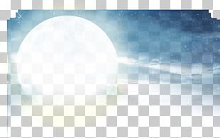 Sky White Blue Moonlight PNG