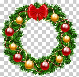 Garland Christmas Wreath PNG