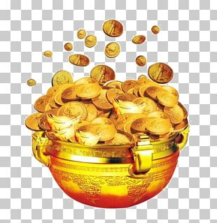 Food Gold Coin Poster PNG