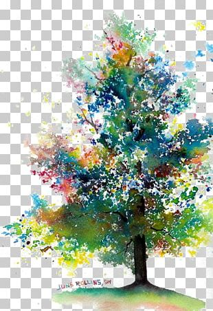 Watercolor Painting Drawing Tree PNG